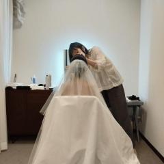 結婚式のヘアメイクに行ってきました